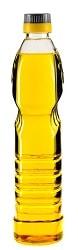 Пластмассовая бутылка с маслом