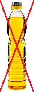 Пластиковая бутылка с маслом