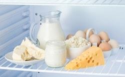 Хранение молочных продуктов в холодильнике