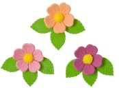 Три цветочка из мастики