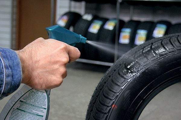 Обработка шины специальным составом