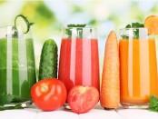 Композиция из огуречного, томатного и морковного соков