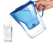 Фильтр и стакан с водой