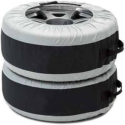 Хранение колес в чехлах