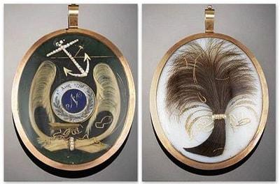 Кулон с волосами