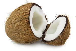 Вскрытый кокос