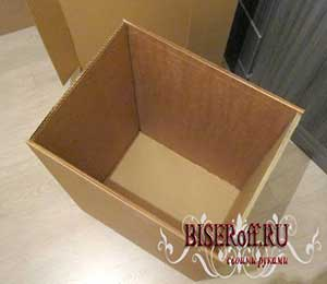 Собираем короб из картона