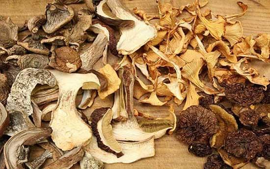 Сушеные грибы