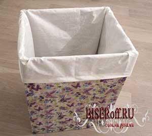 Вкладываем тканевый мешок